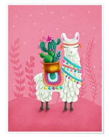 Premiumposter  Illustration of a cute llama - Elena Schweitzer