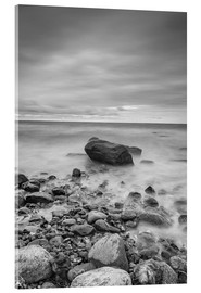Akrylglastavla  Granite in the Baltic Sea (long exposure) - Heiko Mundel