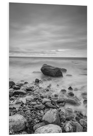 PVC-tavla  Granite in the Baltic Sea (long exposure) - Heiko Mundel