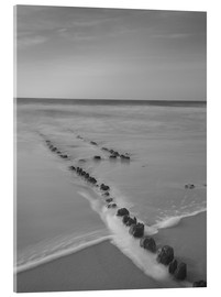 Akrylglastavla  Groyne on Sylt (long exposure) - Heiko Mundel