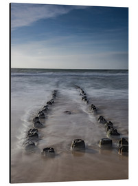 Aluminiumtavla  Groyne on Sylt (long exposure) - Heiko Mundel