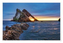 Premiumposter Sunrise at Bow Fiddle Rock