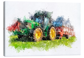 Canvastavla  tractor - Peter Roder