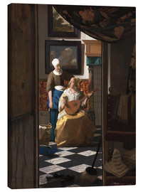 Canvastavla  the love letter - Jan Vermeer