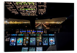 Akrylglastavla  A380 Cockpit on the Runway - Ulrich Beinert