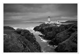 Premiumposter Lighthouse in storm