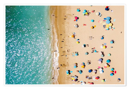 Premiumposter  Aerial View Of People on Summer Holiday - Radu Bercan
