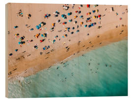 Trätavla  Vacationers on the beach in Lagos, Portugal - Radu Bercan