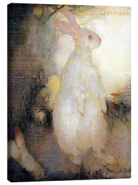 Canvastavla  White rabbit, standing - Jan Mankes