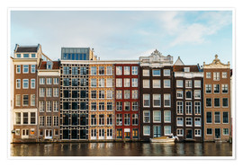 Poster Colorful House Facade Amsterdam