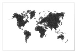 Premiumposter Map Of The World Sketch