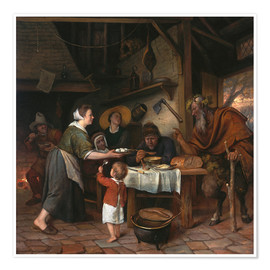 Premiumposter The Satyr and the Peasant Family