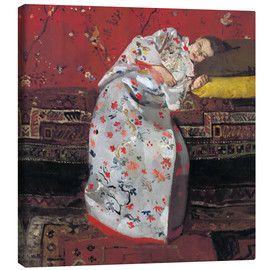 Canvastavla  Girl in a white kimono - Georg-Hendrik Breitner