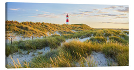 Canvastavla  Lighthouse in Sylt - Rainer Mirau