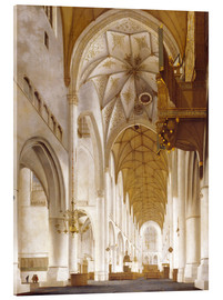 Akrylglastavla  interior of the Church of Saint Bavo in Haarlem - Pieter Jansz Saenredam