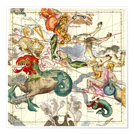 Premiumposter  Celestial Atlas, plate 2 - Ignace Gaston Pardies