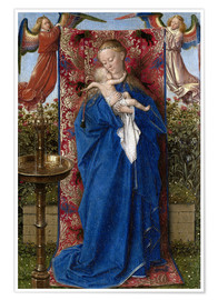Premiumposter Madonna with child at the well