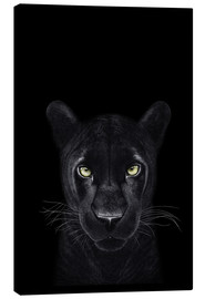 Canvastavla  Black Panther on a black ground II - Valeriya Korenkova