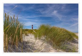 Premiumposter  Lighthouse List / East with dune - Heiko Mundel