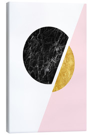 Canvastavla  Scandinavian composition with marble and gold - Radu Bercan