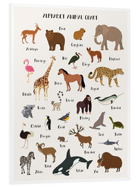 PVC-tavla  Alphabet animal chart - Kidz Collection