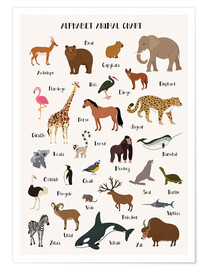 Poster  Alphabet animal chart - Kidz Collection