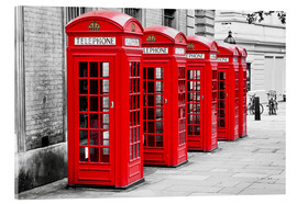 Akrylglastavla  London telephone box - Art Couture