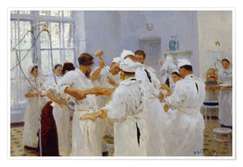 Premiumposter The surgeon Evgeny Pavlov in the operating room