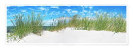 Premiumposter  Panorama of Dunes, Baltic Sea - Art Couture
