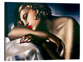 Aluminiumtavla  The sleeping girl - Tamara de Lempicka