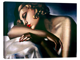 Canvastavla  The sleeping girl - Tamara de Lempicka