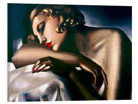 PVC-tavla  The sleeping girl - Tamara de Lempicka