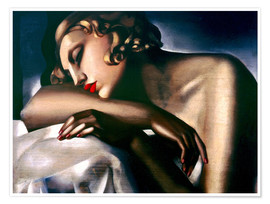 Premiumposter  The sleeping girl - Tamara de Lempicka
