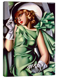 Canvastavla  Young lady with gloves - Tamara de Lempicka