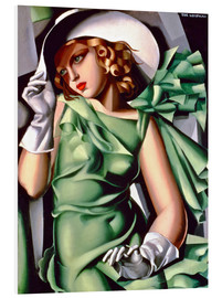 PVC-tavla  Young lady with gloves - Tamara de Lempicka