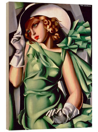 Trätavla  Young lady with gloves - Tamara de Lempicka