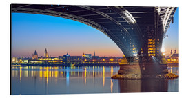 Aluminiumtavla  Mainz Germany  with rhine bridge - Fine Art Images